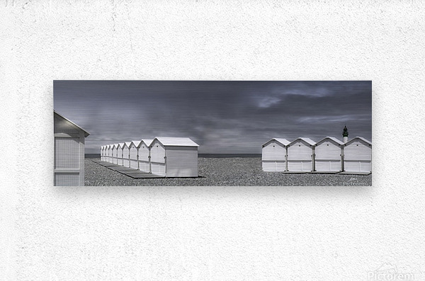 cabins beach  Metal print