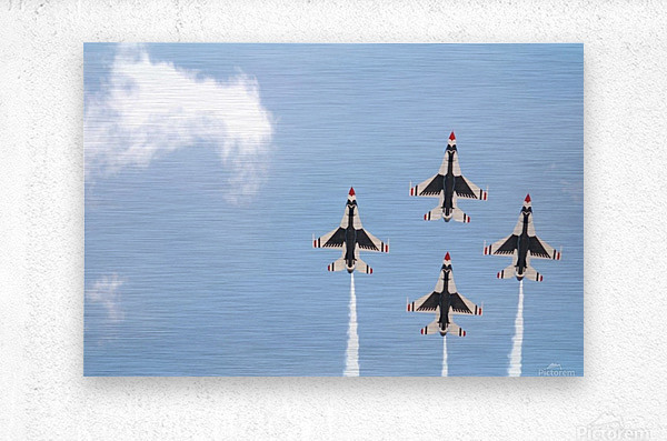 Falcon Formation  Metal print