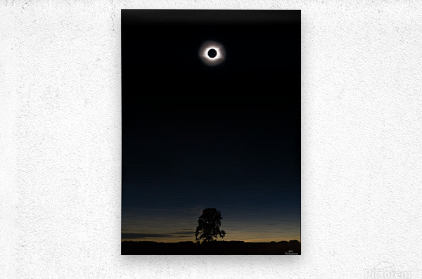 Eclipse 2017  Metal print
