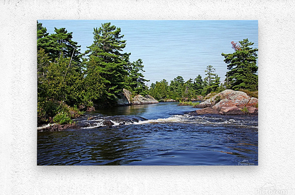 Lovers Rapids Lower French River  Metal print