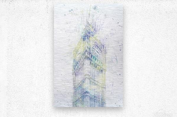 Modern Art BIG BEN | watercolor   Metal print