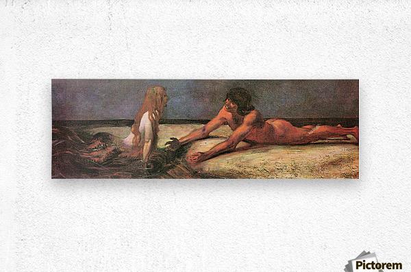Mermaid by Franz von Stuck  Metal print