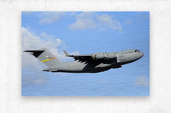 A C-17 Globemaster III  Metal print