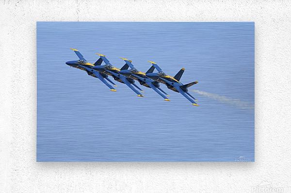 U.S. Navy flight demonstration squadron the Blue Angels.  Metal print