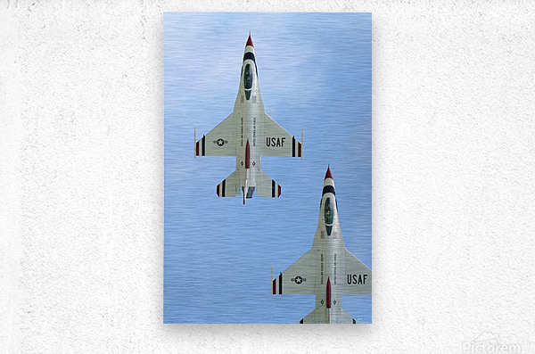 The United States Air Force Demonstration Team Thunderbirds  Metal print