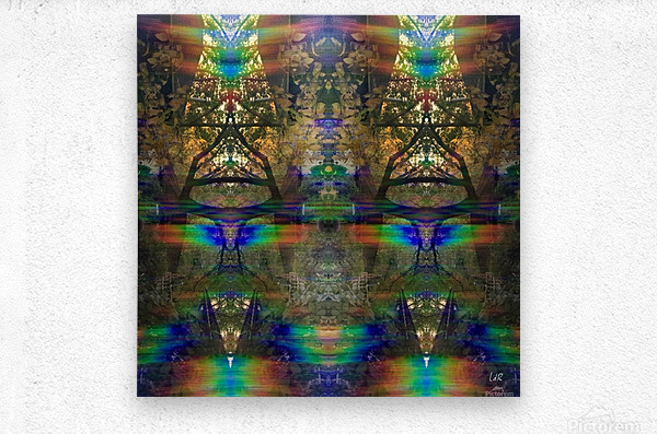 Colliding Universes  Metal print