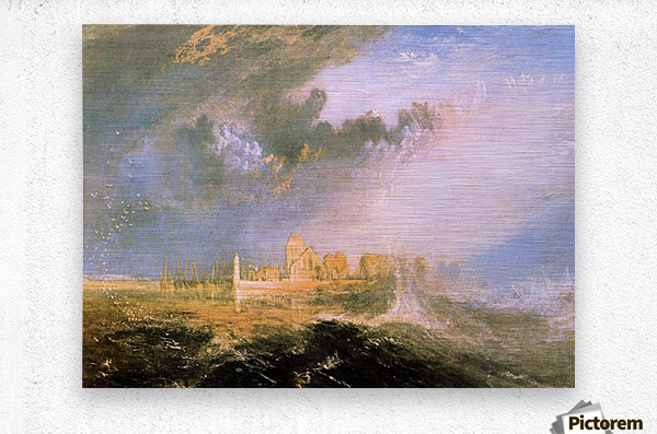 Mouth of the Seine by Joseph Mallord Turner  Metal print