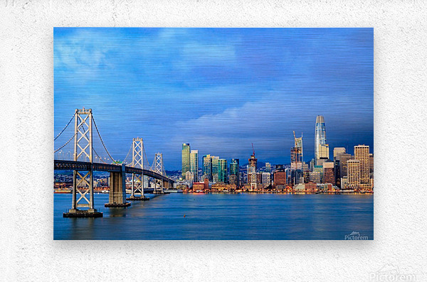 San Francisco on Blue  Metal print
