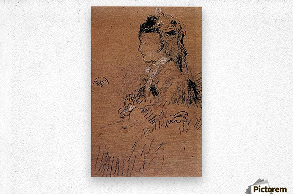 Mrs Leyland seated by Whistler  Metal print
