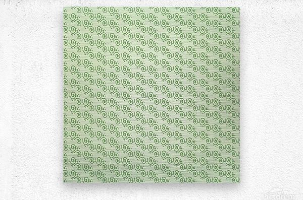 Green Hand Art Design  Metal print