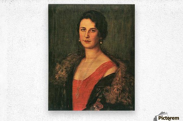 Mrs. Patzak by Franz von Stuck  Metal print