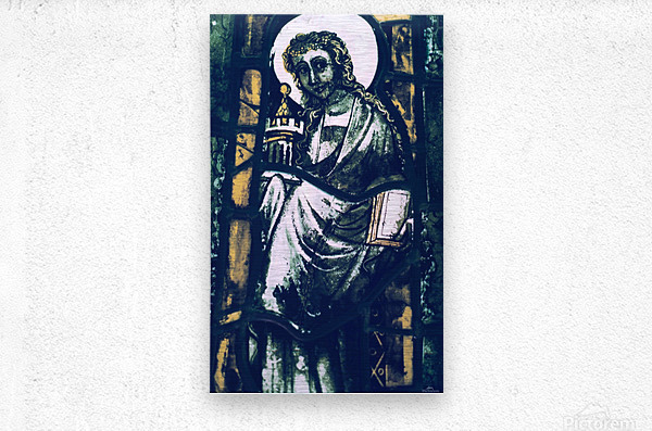Metz Cathedral 6  Metal print