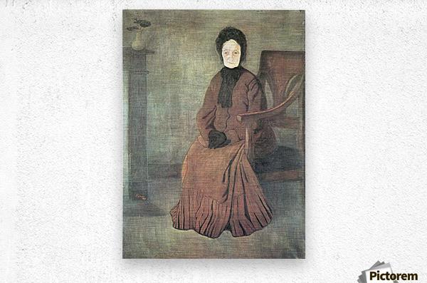 My grandmother by Joseph Rippl-Ronai  Metal print