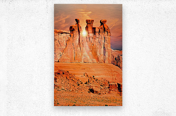 Three Gossips  Metal print