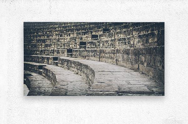 Pompei Amphitheatre stairs  Metal print