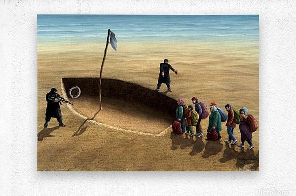 Last emigration by Krzysztof Grzondziel  Metal print