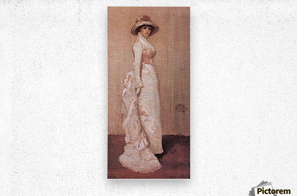 Nocturne in rose and grey by Whistler  Metal print