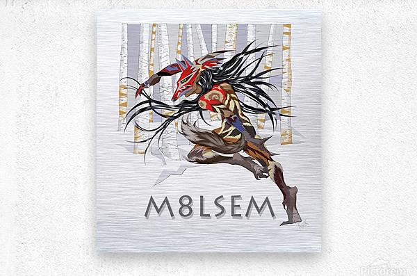 Loup_M8lsem_AnikLafreniere  Metal print