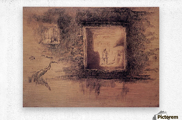 Nocturne, Furnace by Whistler  Metal print