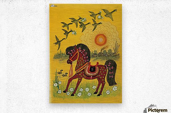 Vasnetsov horse  Metal print
