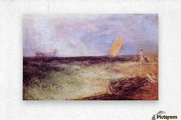 Outside of Ramsgate by Joseph Mallord Turner  Metal print