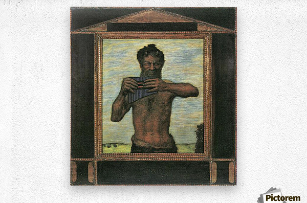 Pan by Franz von Stuck  Metal print