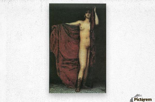 Phyrne by Franz von Stuck  Metal print