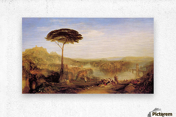Pilgrimage to Italy by Joseph Mallord Turner  Metal print
