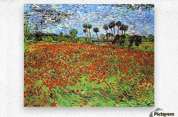 Poppy Fields by Van Gogh  Metal print
