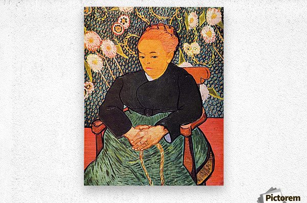 Portrait of Augustine Roulin (La Berceuse by Van Gogh  Metal print