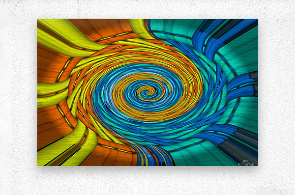 Magic Swirl  Metal print