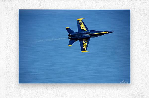 Single USN Blue Angel Flying  Metal print