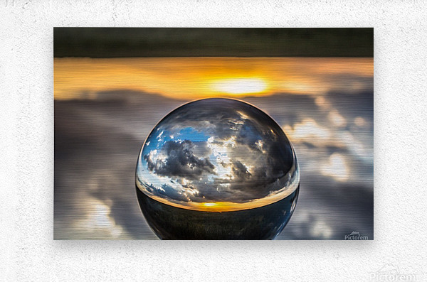Lens Ball7  Metal print