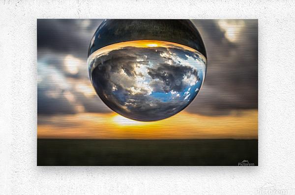 Lens Ball3  Metal print