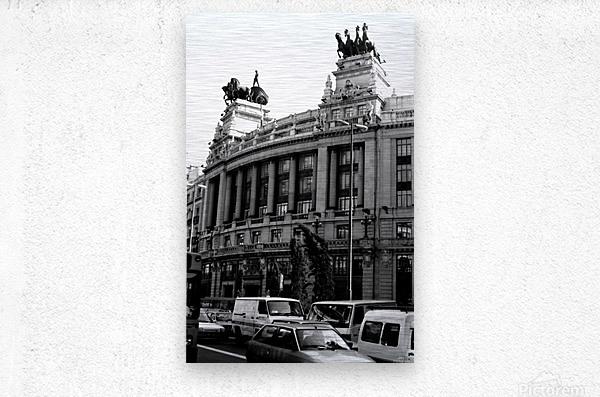 Calle de Alcalá  Madrid  Metal print