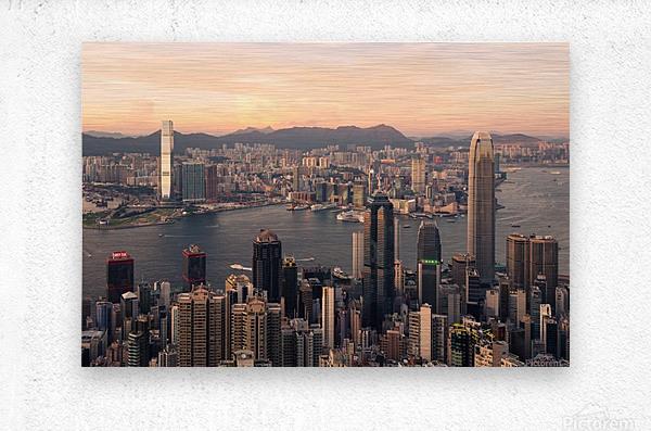 HONG KONG 08  Metal print