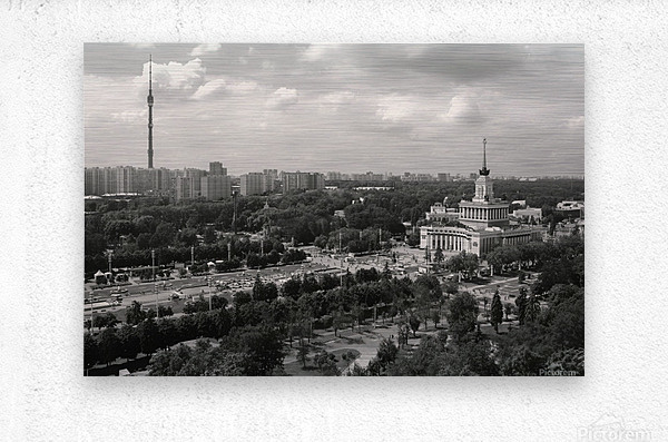 Moscow Air View I  Metal print