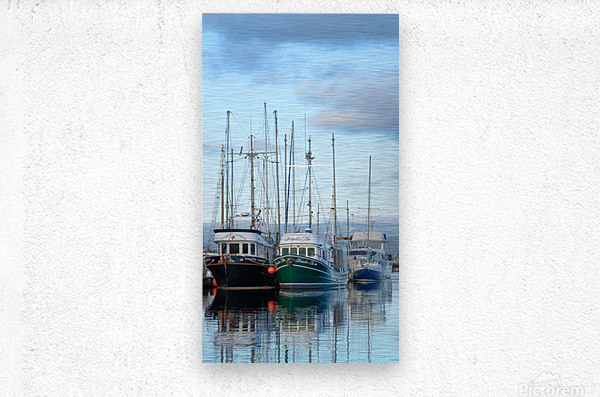 Fishers day off  Metal print