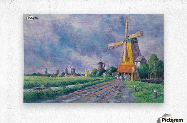 Outskirts of Rotterdam  Metal print