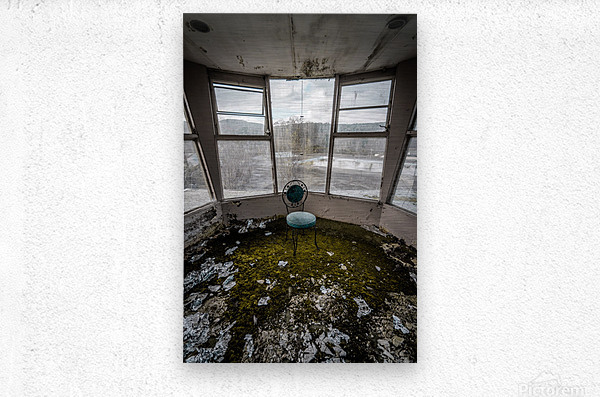 Abandoned Ski Resort  Metal print