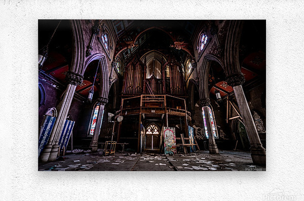 Abandoned Gothic Cathedral  Metal print