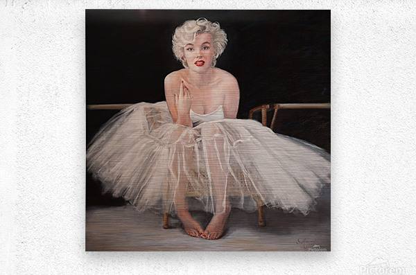 Marilyn in white ballet dress 1  Metal print