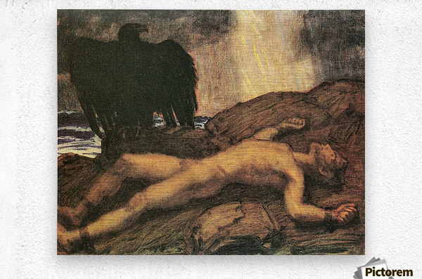 Prometheus by Franz von Stuck  Metal print
