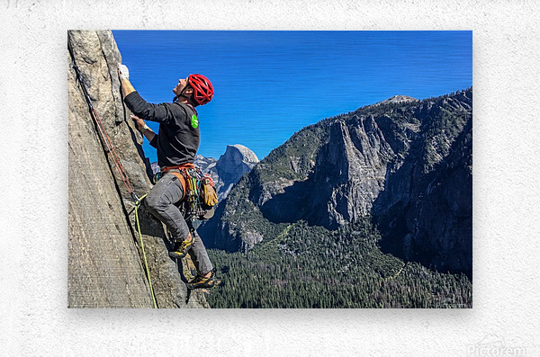 Climber on El Capitan  Metal print