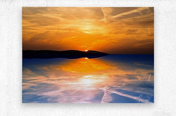 Beautiful Nature Landscape sunrise sunset sun Photography landscape photo Scenery  Metal print