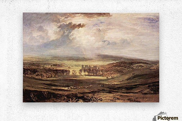 Raby Castle by Joseph Mallord Turner  Metal print
