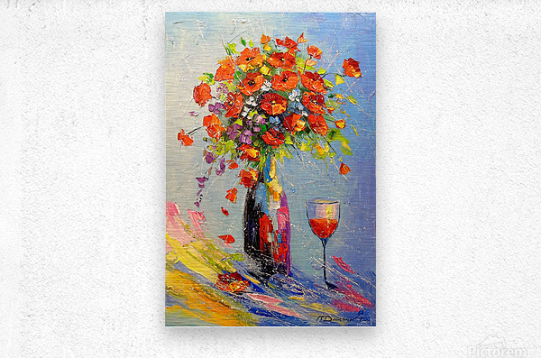 Holiday with a bouquet  Metal print