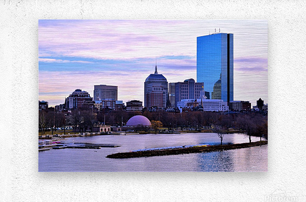 12.5.18 Skyline Boston  Metal print