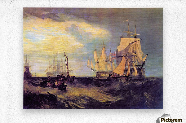 Recovering an anchor by Joseph Mallord Turner  Metal print