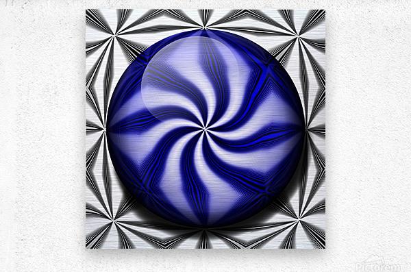 Twisted Mint  Metal print